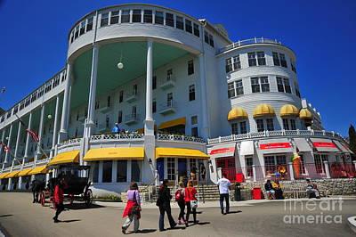 Michigan Photograph - The Grand Hotel Ice Cream Parlor by Terri Gostola