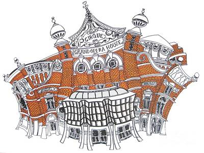 The Grand Opera House Belfast Art Print by Tanya Mai Johnston