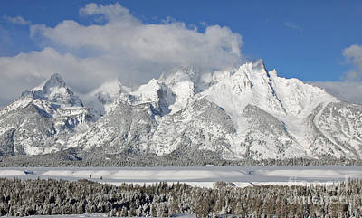 Teton Mixed Media - The Grand by Philip Bracco