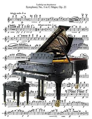 Digital Art - The Grand Piano by Ron Davidson