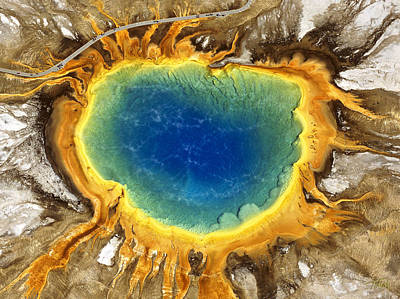 Yellowstone Photograph - The Grand Prismatic by Timm Chapman