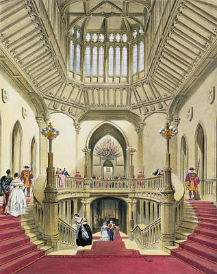 The Grand Staircase, Windsor Castle Art Print by English School