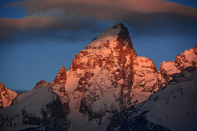 Photograph - The Grand Teton With Alpenglow by Raymond Salani III