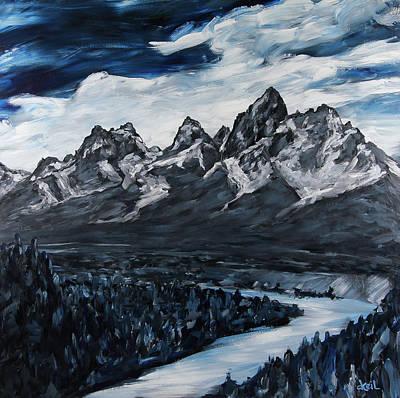 The Grand Tetons Art Print by Douglas Keil