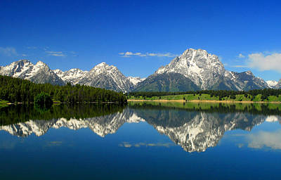 Photograph - The Grand Tetons by Frank Houck