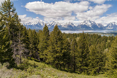 Photograph - The Grand Tetons From Signal Mountain - Grand Teton National Park Wyoming by Brian Harig