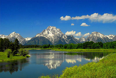 Photograph - The Grand Tetons-snake River by Frank Houck