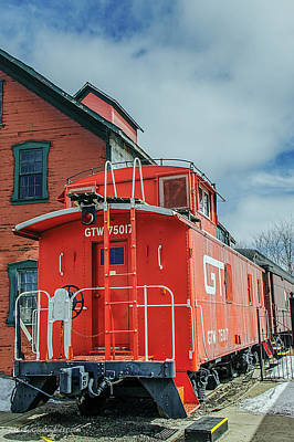 Vehicle Photograph - The Grand Trunk Western Depot  by LeeAnn McLaneGoetz McLaneGoetzStudioLLCcom