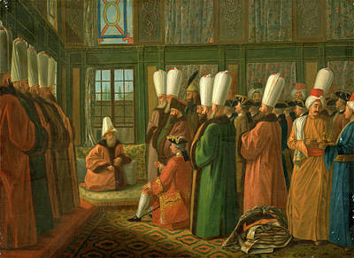 The Grand Vizier Giving Audience To The English Ambassador Art Print