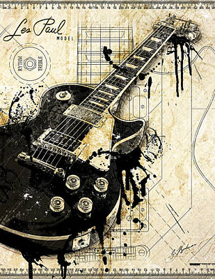 Guitar Digital Art - The Granddaddy by Gary Bodnar