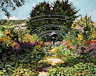 Tourist Site Painting - The Grande Alle Monet's Garden by David Lloyd Glover