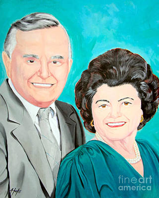 Painting - The Grandparents by Audrey Van Tassell