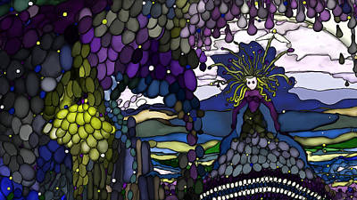 The Grape Arbor Medusa Art Print by Constance Krejci