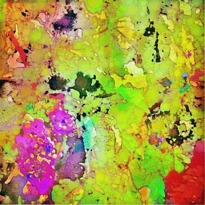 Wine Digital Art - The Grape Vine by Cindy Edwards