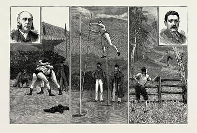 Pole Drawing - The Grasmere And Lake District Sports, Westmorland by Litz Collection
