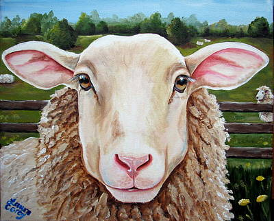 Romney Painting - The Grass Is Alwaus Greener..... by Laura Carey