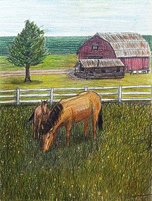 What Is Real Drawing - The Grass Is Greener by Larry Lamb