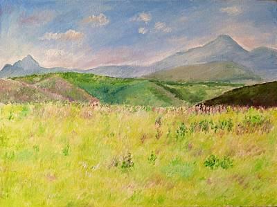 Painting - The Grass Is White by Aditi Bhatt