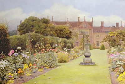 Bird Bath Drawing - The Grass Walk, Helmingham Hall, 1892 by Henry Terry