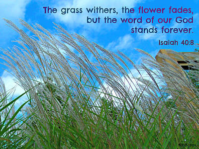 Digital Art - The Grass Withers by Christine Nichols