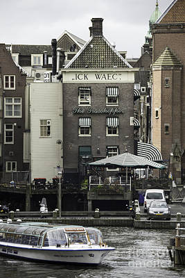 Curated Beach Towels - The Grasshopper Damrak Canal Amsterdam by Teresa Mucha