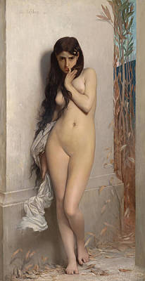 Grasshopper Painting - The Grasshopper by Jules Joseph Lefebvre