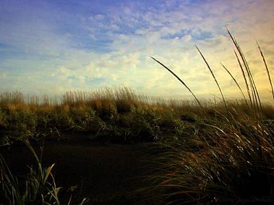 Friendly Digital Art - The Grassy View by Joyce Dickens