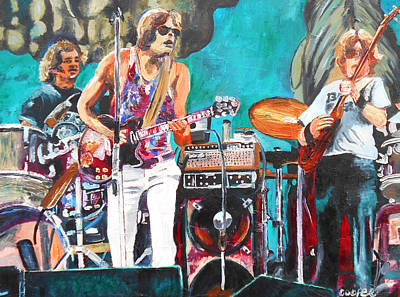 Phil Lesh Painting - The Grateful Dead In Englishtown by Kevin J Cooper Artwork