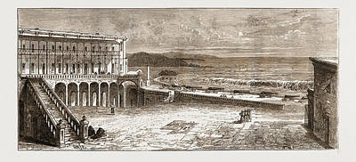 Ghana Drawing - The Grave Of  L. E. L. In Cape Coast Castle by Litz Collection