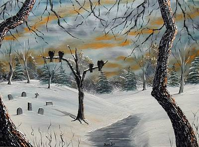 Cemetary Painting - The Graveyard by Don Bowling