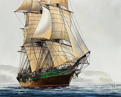 The Great Age Of Sail Art Print by James Williamson