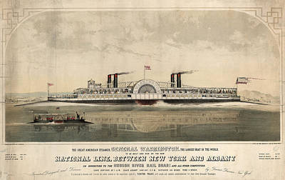 The Great American Steamer, General Washington Art Print by Litz Collection