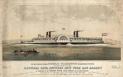 The Great American Steamer, General Washington Art Print