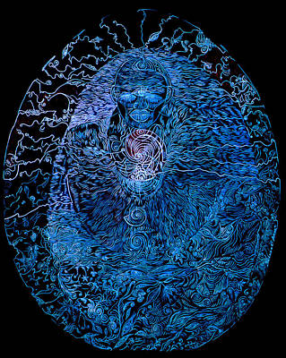 The Great Amma In Black Light Original by Lola Lonli