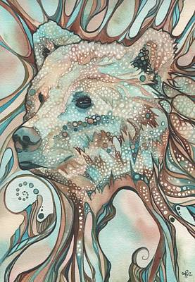 Watercolour Painting - The Great Bear Spirit by Tamara Phillips