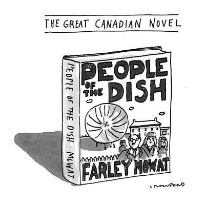 Novel Drawing - The Great Canadian Novel by Michael Crawford