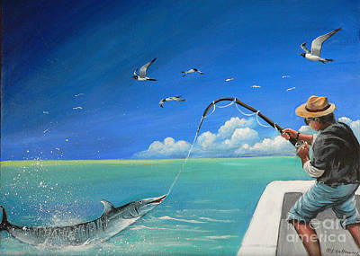 Art Print featuring the painting The Great Catch 1 by S G