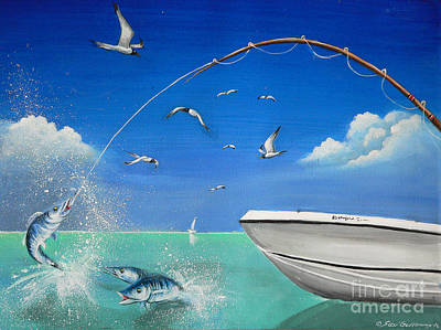 Art Print featuring the painting The Great Catch 2 by S G