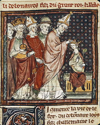 The Great Chronicles Of France 14th C Art Print