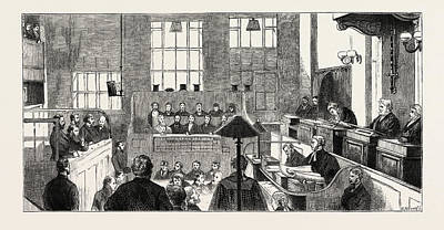 Yes Drawing - The Great City Forgeries Trial Of The Accused by English School