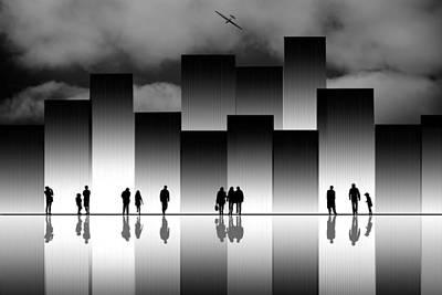 Tetris Block Photograph - The Great City by Natalia Baras