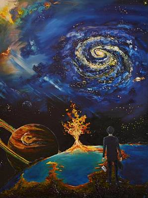 Burning Bush Painting - The Hereafter Beckons by Ember Canada