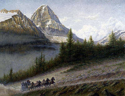 Canadian Rockies Painting - The Great Divide by Gregory Perillo