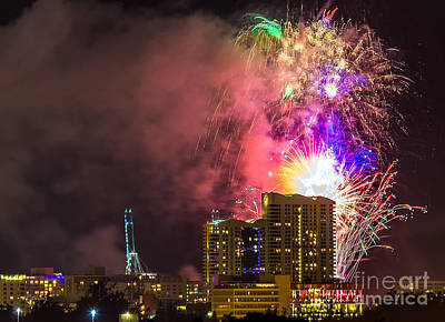 Photograph - The Great Fireworks Display by Rene Triay Photography