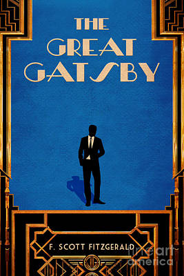 Book Covers Drawing - The Great Gatsby Book Cover Movie Poster Art 1 by Nishanth Gopinathan