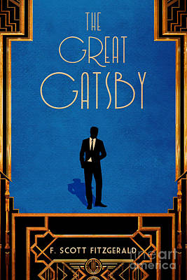 Minimalist Book Cover Digital Art - The Great Gatsby Book Cover Movie Poster Art 2 by Nishanth Gopinathan