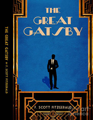 Book Jacket Drawing - The Great Gatsby Book Cover Movie Poster Art 4 by Nishanth Gopinathan