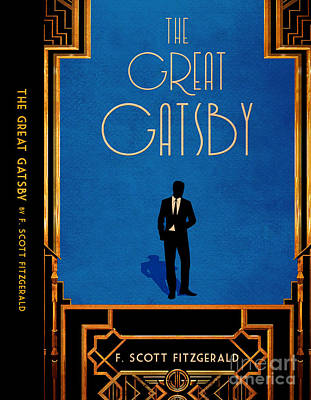 Minimalist Book Cover Digital Art - The Great Gatsby Book Cover Movie Poster Art 5 by Nishanth Gopinathan