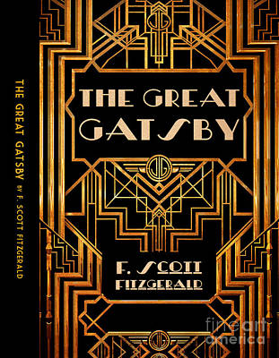Book Jacket Drawing - The Great Gatsby Book Cover Movie Poster Art 6 by Nishanth Gopinathan