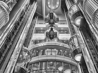 Photograph - The Great Glass Elevators by Howard Salmon